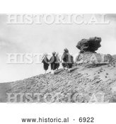 December 13th, 2013: Historical Photo of Acoma Indians Carrying Water 1905 - Black and White by Al