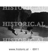 December 13th, 2013: Historical Photo of Acoma Indians Fetching Water 1904 - Black and White by Al