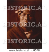 Historical Photo of Acoma Native American Indian Man 1904 - Sepia by Al