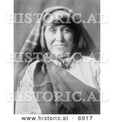 Historical Photo of Acoma Woman - Native American Indian - Black and White Version by Al