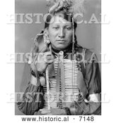 December 13th, 2013: Historical Photo of Amos Little, Sioux Native American 1900 - Black and White by Al