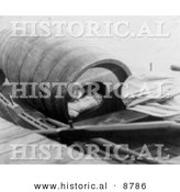 Historical Photo of Annie Edson Taylor Laying in Her Barrel, 1901 - Black and White Version by Al