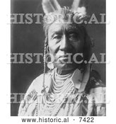 December 13th, 2013: Historical Photo of Apsaroke Indian Called Fish Shows 1908 - Black and White by Al