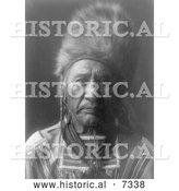 December 13th, 2013: Historical Photo of Apsaroke Man by the Name of Old Dog 1908 - Black and White by Al