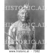 December 13th, 2013: Historical Photo of Apsaroke Native American Indian Man Named Sitting Elk 1908 - Black and White by Al