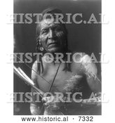 December 13th, 2013: Historical Photo of Apsaroke Native American Man by the Name of Two Leggings 1908 - Black and White by Al