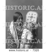 Historical Photo of Apsaroke Native Woman with Baby 1908 - Black and White by Al