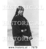 Historical Photo of Arapaho Maiden 1910 - Black and White by Al