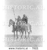 Historical Photo of Atsina Native Chiefs on Horses 1908 - Black and White by Al