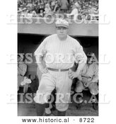 Historical Photo of Babe Ruth in Uniform - Black and White Version by Al