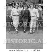 Historical Photo of Babe Ruth, Jack Bentley, and Jack Dunn in 1923 - Black and White Version by Al