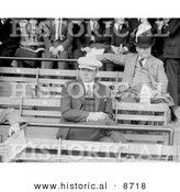 Historical Photo of Babe Ruth Sitting in the Bleachers, 1922 - Black and White Version by Al