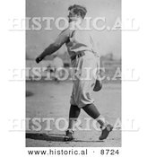 Historical Photo of Babe Ruth Throwing Baseball, 1922 - Black and White Version by Al