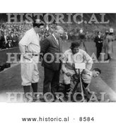 Historical Photo of Babe Ruth with John Mcgraw, Nick Altrock and Al Schact - Black and White Version by Al