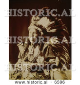 Historical Photo of Bad Wound, Sioux Native American Indian 1899 - Sepia by Al