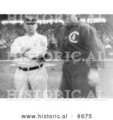Historical Photo of Baseball Players John McGraw and Frank Chance, 1911 - Black and White Version by Al