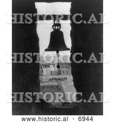 December 13th, 2013: Historical Photo of Bell in a Bell Tower, Acoma Indian Architecture 1905 - Black and White by Al