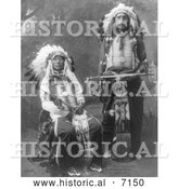 December 13th, 2013: Historical Photo of Black Horn and James Lone Elk 1900 - Black and White by Al
