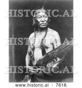 Historical Photo of Bobtailhorse, Blackfoot Indian 1913 - Black and White by Al