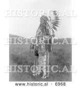December 13th, 2013: Historical Photo of Brule Native American Man Named High Hawk 1907 - Black and White by Al
