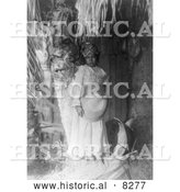 Historical Photo of Cahuilla Native American Girl 1905 - Black and White Version by Al