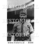 Historical Photo of Casey Stengel, a Baseball Player of the Brooklyn Dodgers in 1914 - Black and White Version by Al