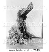 Historical Photo of Ceremonial Costume 1914 - Black and White by Al