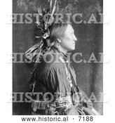 December 13th, 2013: Historical Photo of Charging Thunder, Sioux Indian Man 1900 - Black and White by Al