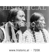 December 13th, 2013: Historical Photo of Charging Thunder with Wife, Sioux Indians 1900 - Black and White by Al
