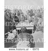 December 13th, 2013: Historical Photo of Cherokee Indians Getting Paid - Black and White by Al