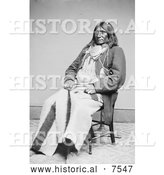 Historical Photo of Cheyenne Indian Chief - Black and White by Al