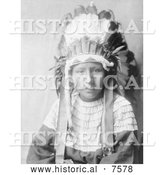 Historical Photo of Cheyenne Indian Girl, the Daughter of Bad Horses 1905 - Black and White by Al