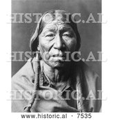 Historical Photo of Cheyenne Native American Man - Black and White by Al