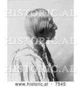 Historical Photo of Cheyenne Native American Man by the Name of Bear Black 1905 - Black and White by Al