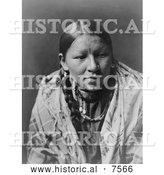 Historical Photo of Cheyenne Native American Woman 1910 - Black and White by Al
