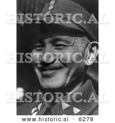 Historical Photo of Chiang Kai-Shek Smiling, 1945 - Black and White Version by Al