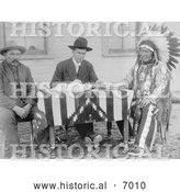 December 13th, 2013: Historical Photo of Chief American Horse Becoming an American Citizen 1907 - Black and White by Al