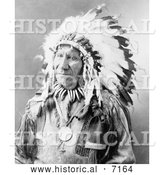 Historical Photo of Chief American Horse, Sioux Indian 1900 - Black and White by Al