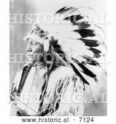 Historical Photo of Chief Hollow Horn Bear 1898 - Black and White by Al