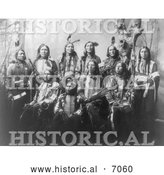 Historical Photo of Chief Jack Red Cloud with Sioux Chiefs 1899 - Black and White by Al
