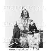 December 13th, 2013: Historical Photo of Chief Red Fox, Sioux Indian 1900 - Black and White by Al