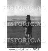 Historical Photo of Chinook Woman on Beach 1910 - Black and White by Al