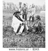 Historical Photo of Chippewa Wedding - Black and White by Al
