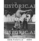 Historical Photo of Christy Mathewson, New York Giants Pitcher, Throwing a Baseball, 1911 - Black and White Version by Al