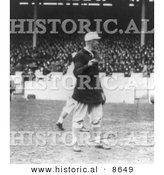Historical Photo of Christy Mathewson of the NY Giants Holding a Baseball, 1913 - Black and White Version by Al