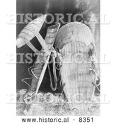 Historical Photo of Chukchansi Cradle Baskets 1924 - Black and White by Al