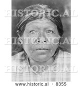 Historical Photo of Chukchansi Woman 1924 - Black and White by Al