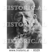 Historical Photo of Chukchansi Yokuts Chief - Black and White Version by Al
