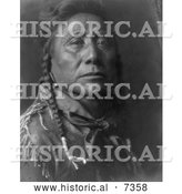 December 13th, 2013: Historical Photo of Coups Well Known, Apsaroke Man 1908 - Black and White by Al