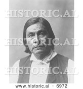 December 13th, 2013: Historical Photo of Creek Indian Man Called Chitto Harjo/Crazy Snake 1903 - Black and White by Al